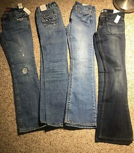 290a5d64081 Details about NEW LOT Aeropostale Jeans Haley Skinny Flare Chelsea Boot Cut  SZ 0 Low Rise Slim