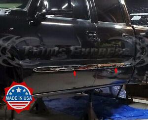 1999-2006-Chevy-Silverado-Crew-Cab-Flat-Body-Side-Molding-Stainless-Trim-2-034-4Pc