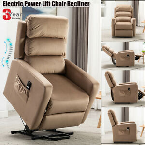 Electric-Power-Lift-Recliner-Chair-Soft-Sofa-Overstuffed-Safety-Remote-Control