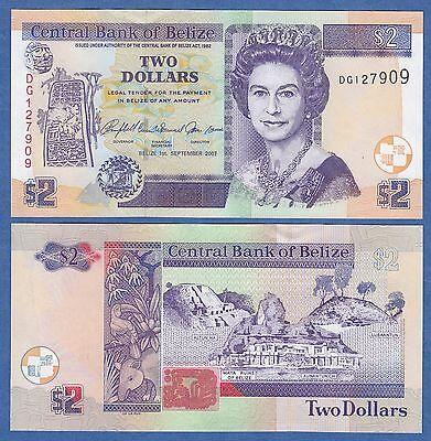 Belize 2 Dollars P 66 c 2007 UNC Low Shipping! Combine FREE (P-66c)