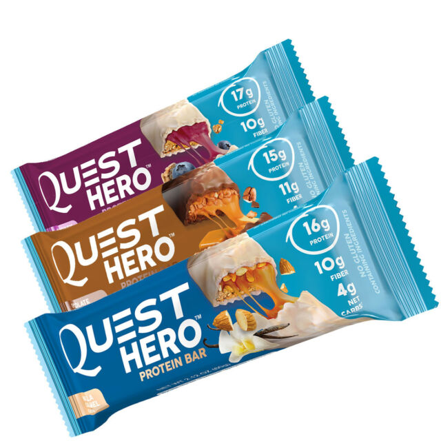 Quest HERO Protein Bar Gluten Free, Low Carb BOX OF 10 ...