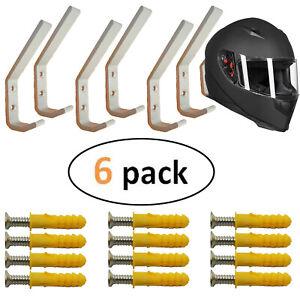 Motorcycle Motorbike 2x Aluminum Helmet Rack Wall Display Rack Storage Holder