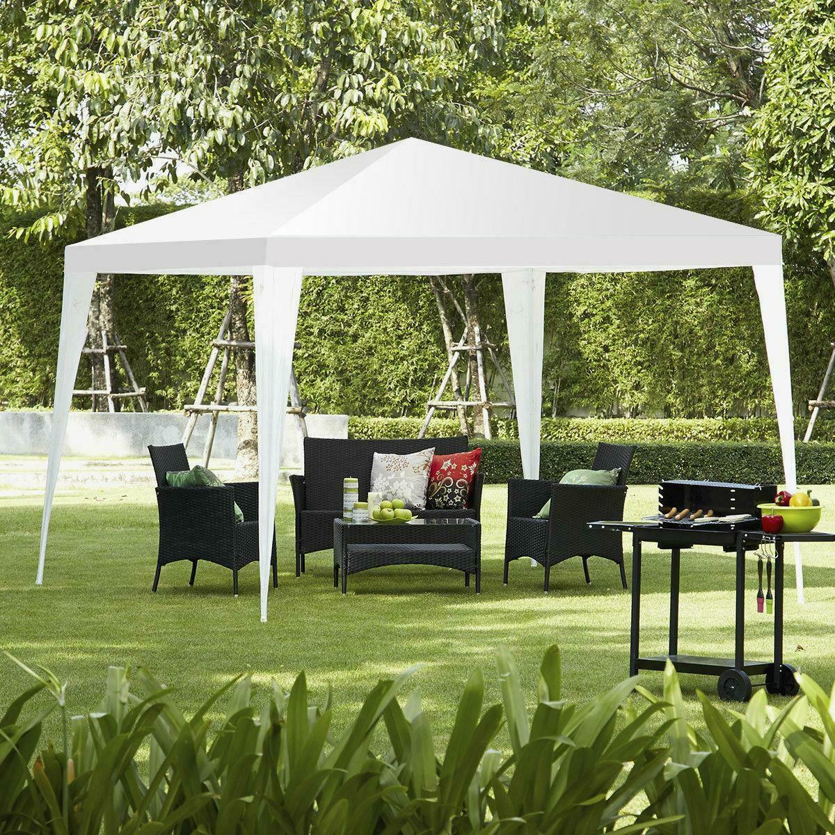 Image 1 - 10'x10'Canopy Party Wedding Tent Heavy duty Gazebo Pavilion Cater Events White