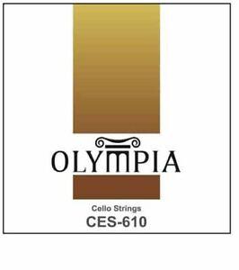 qualita-OLYMPIA-VIOLONCELLO-CORDONCINI-CROMO-ARGENTO-LISCE-Set-completo