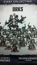 Warhammer 40K START COLLECTING  ORKS     Nobz   Boyz    Deff Dred