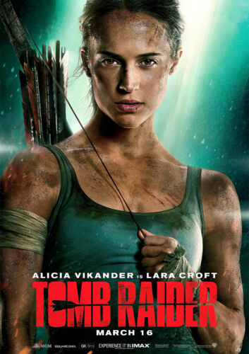 Tomb Raider Poster 2018 Movie NEW Alicia Vikander CHOOSE YOUR SIZE FREE P+P
