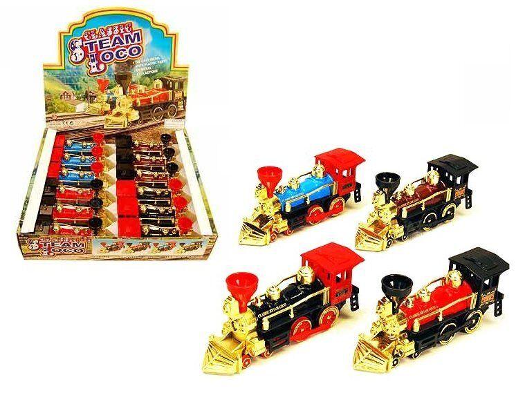Tren Clásico equipo Loco pantalla 7  Locomotora de vapor Box Conjunto de 12 MC-55839