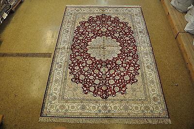 Area Rug 6 x 9 Silk Isfahan Smooth Feel