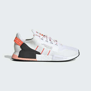 Adidas Nmd R1 V2 Mens White Red Black Shoe Trainer Sneaker All