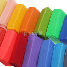 12 Colors DIY Craft Soft Clay Plasticine Blocks Fimo Effect Polymer Modeling Toy