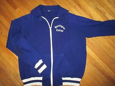 Vtg Huntington Schultaschen Trainingsjacke Sweatshirt Reißverschluss Indiana