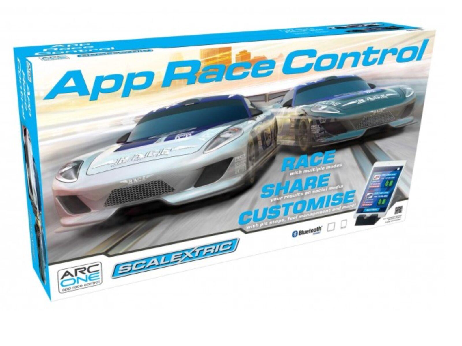 Scalextric 1/32 Arc una aplicación Race Control RCS ranura de coche carrera Set Nº de artículo C1329T F/S