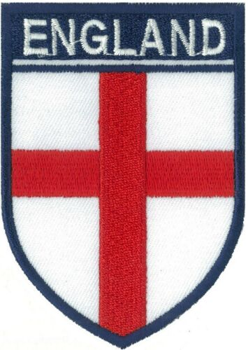 Patch badge patche écusson England Angleterre 85 x 60 mm brodé thermocollant