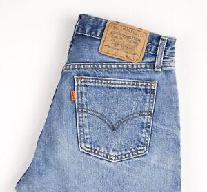 Levi's Strauss & Co Hommes 615 02 Orange Étiquette Vintage Jean Taille W31 L30