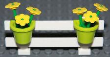 ☀️NEW LEGO City White Fence w/ Flowers Belville House Garden Girl Minifigure #10