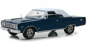 PLYMOUTH Belvedere GTX - 1967 - bluemetallic - Greenlight 1:18