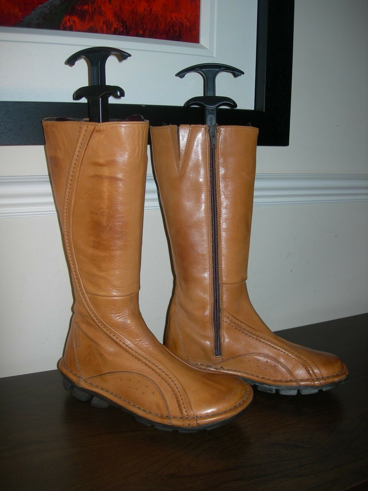 ROT OR DEAD WOMEN'S BOOTS CALF LENGTH CAMEL CARAMEL LEATHER EU 36- 37 / UK 3- 4