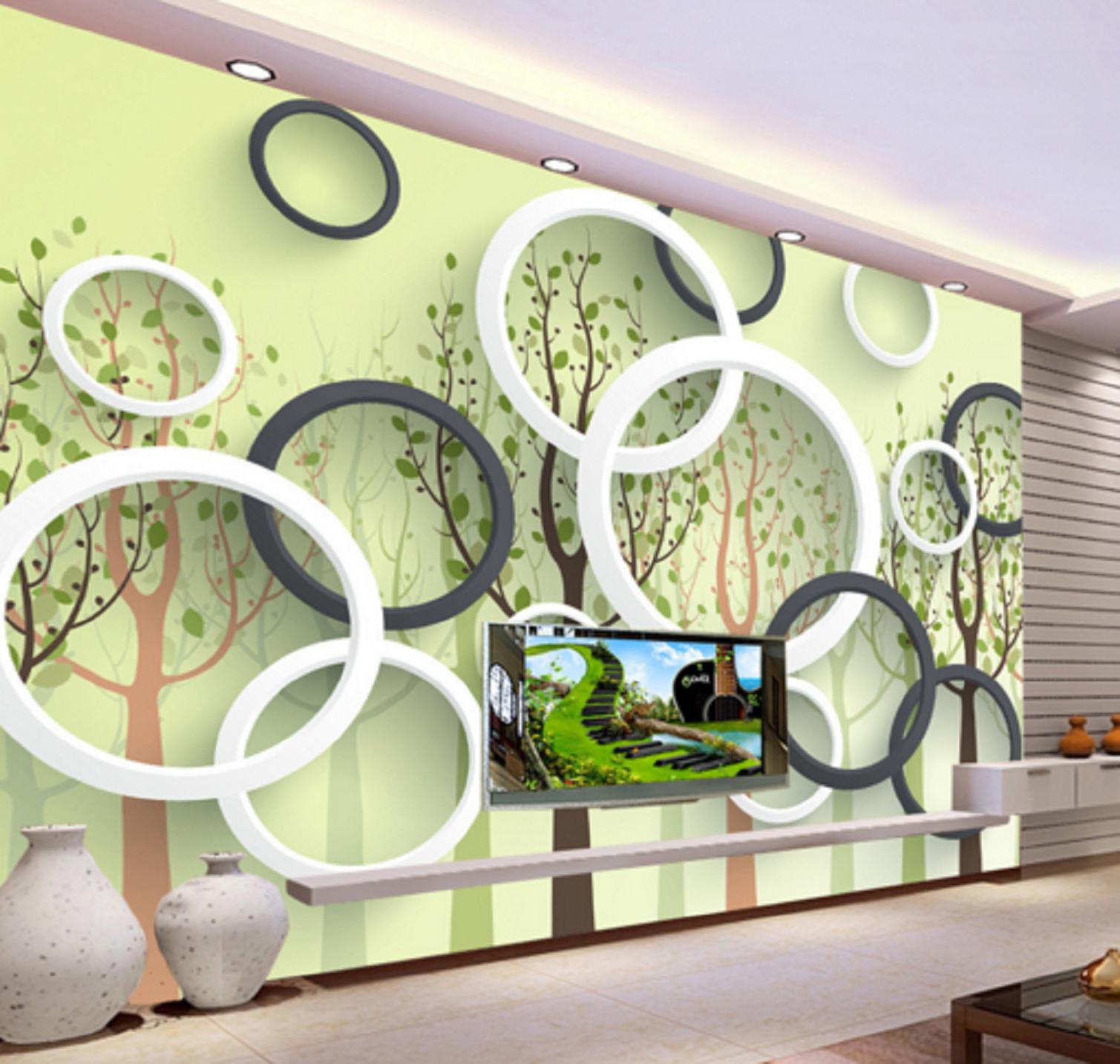 3D Kunstkreis Ring Wald 56 Tapete Tapeten Mauer Foto Familie Tapete Wandgemälde