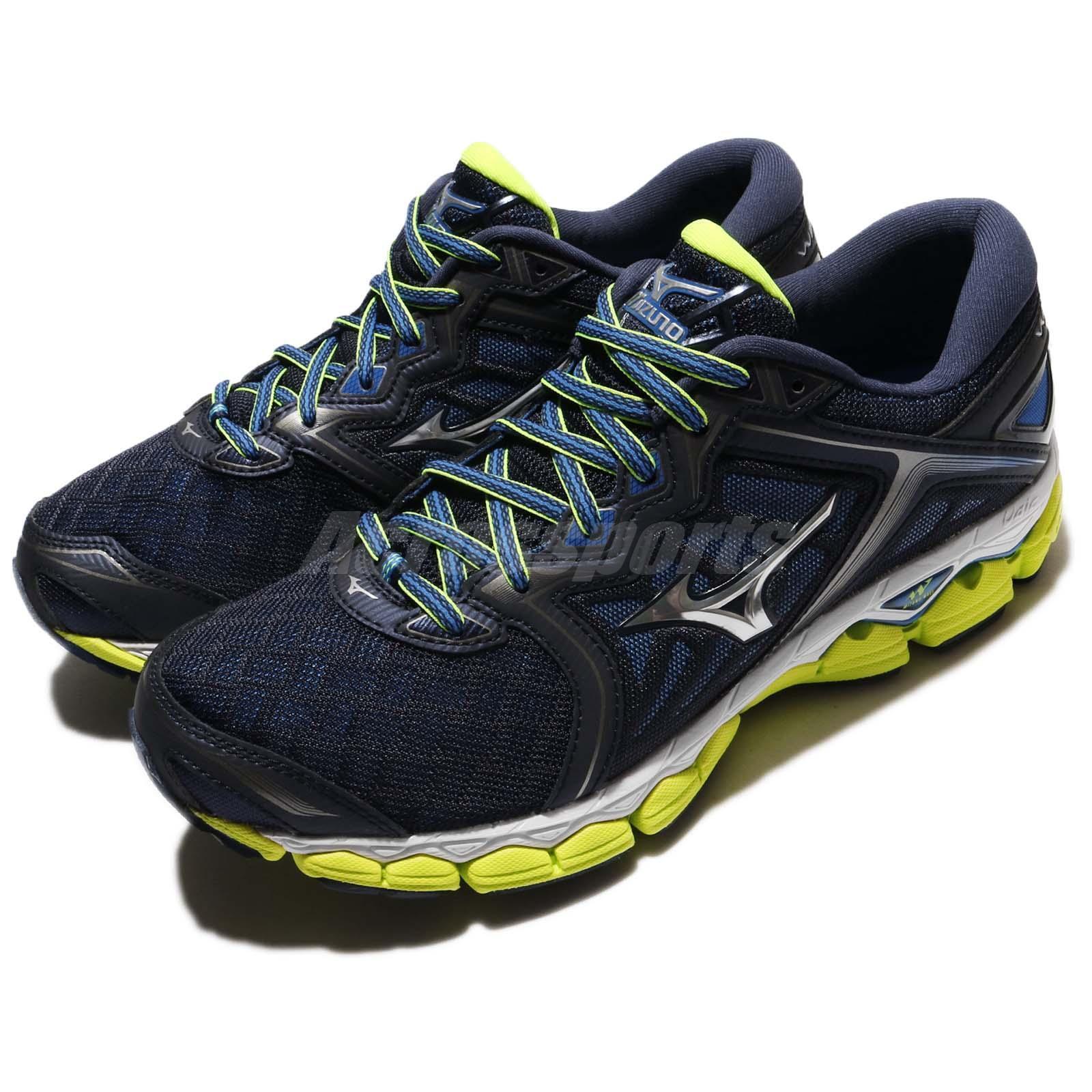Mizuno  Wave Sky 2E Wide Navy Yellow Men Running shoes Sneakers J1GC17-1105  general high quality