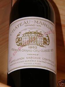 Copieux 1982er Chateau Margaux - 1. Cru Classé-top Millésime ***-afficher Le Titre D'origine