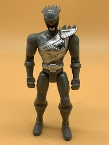 """Bandai Power Rangers Dino Charger Silver Ranger 5"""" Action Figure From Dino Cycle"""