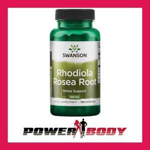 Swanson - Rhodiola Rosea Root, 400mg - 100 caps 87614110042