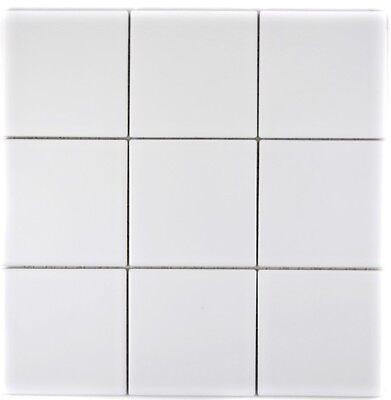 Mosaik Fliese Keramik weiß matt Fliesenspiegel Küche 23 ...