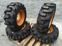 10-16.5 Carlisle Ultra Guard Skid Steer Tires/wheels/rims For Case 40xt 10x16.5