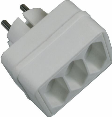 EF Mehrfachsteckdose für LED Lichterkette,3x 3er Steckdose Adapter Euro Schuko K