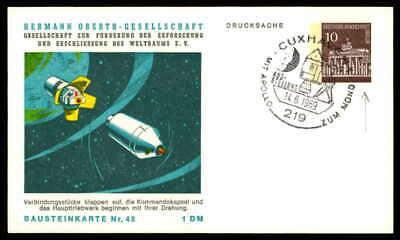 Berlin Privat-ga 1969 Weltraum Space Bausteinlarte 48 Hog Hermann Oberth Ep49
