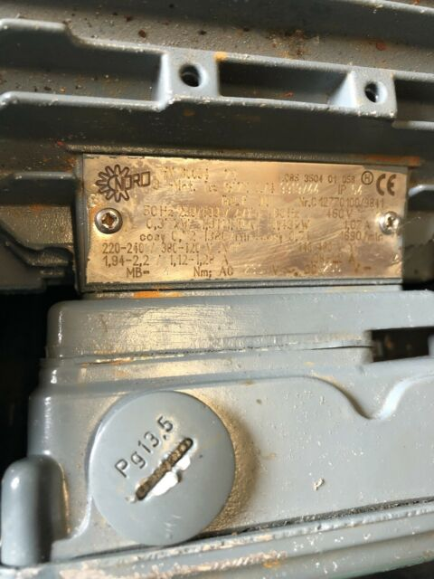 Boîte de Vitesse Moteur Nord type sk01-71s//4 TW mkkwe 34 tr//min 230//400v 0,29 KW 0,9 A 732