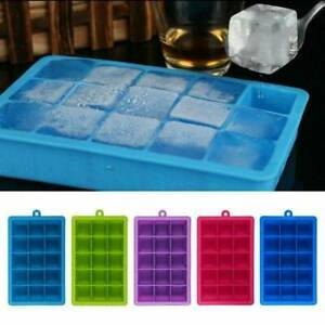 Silicone Square 15-Cavity Large Ice Cube Maker Mold Mould Tray Jelly Tool 2021 Q