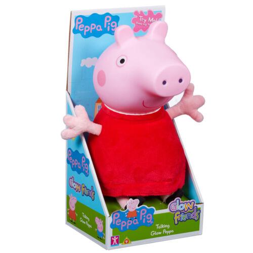06933 Peppa Pig Glow Friends Talking Glow Peppa Jouet Doux en Peluche Age 18 Mois