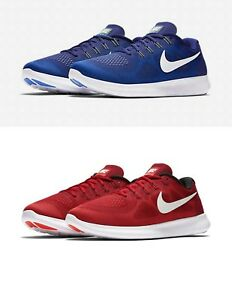 2c42095fc3985 Nike Free RN 2017 Mens Running Shoes Blue   Red 880839-401   601 US ...