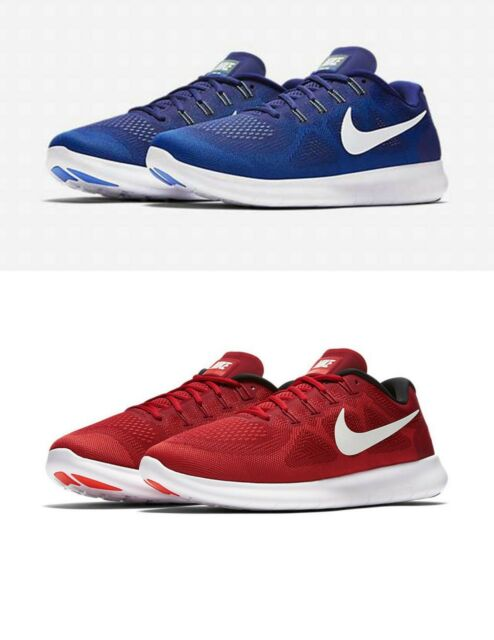 Nike Free RN 2017 Mens Running Shoes Blue Red 880839 401 601 US Sz 9.5 13