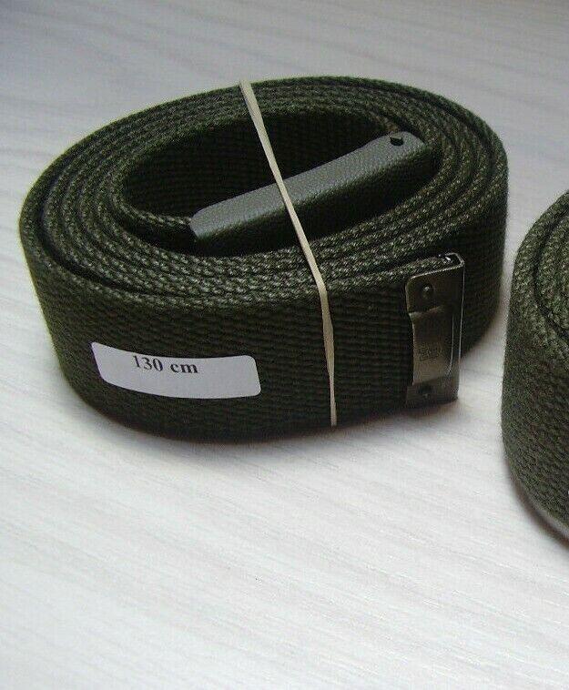 BW Gürtel Hosengürtel Textil oliv mit Kastenschloß Bundeswehr versch. Längen Neu