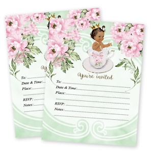 Princess-Baby-Girl-Shower-Invitations-Tea-Baby-Shower-Luncheon-Birthday-QTY-20
