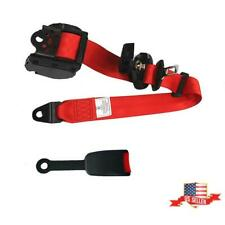 Red 3 Point Safety Belt Retractable Auto Car Seat Belt Lap Adjustable Universal Fits Toyota