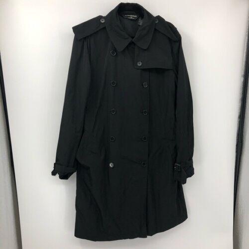 Norma Kamali Black Trench Coat XL NO Belt