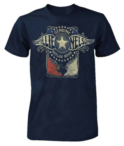 Willie Nelson Outlaw Wings T-Shirt Tee Rock n Roll Bands Tour Country ZRWN1010