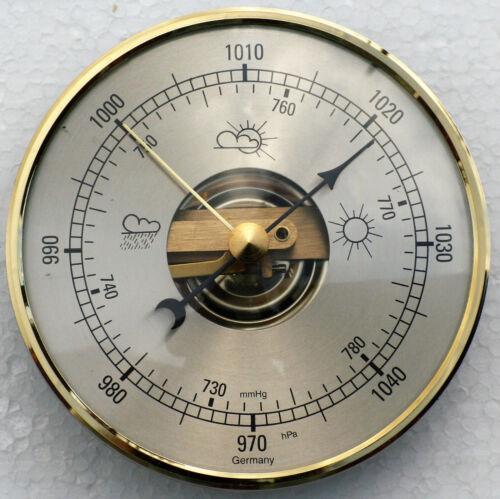 Baromètre Mouvement//Mécanisme 95mm Diamètre avec Laiton Cadran
