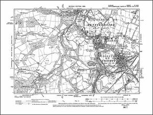 Image Is Loading Consett Black Hill Benfieldside Old Map Durham 1899