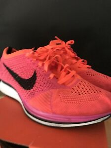 Nike Flyknit Racer Pink Flash Black