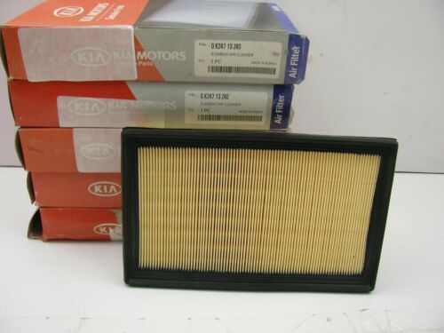 5 Pcs NEW GENUINE OEM Engine Air Filters For 1994-97 Kia Sephia 0K24713Z40