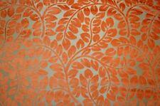 Orange Cut Velvet Floral Upholstery Hybrid Persimmon Kaufmann Fabric