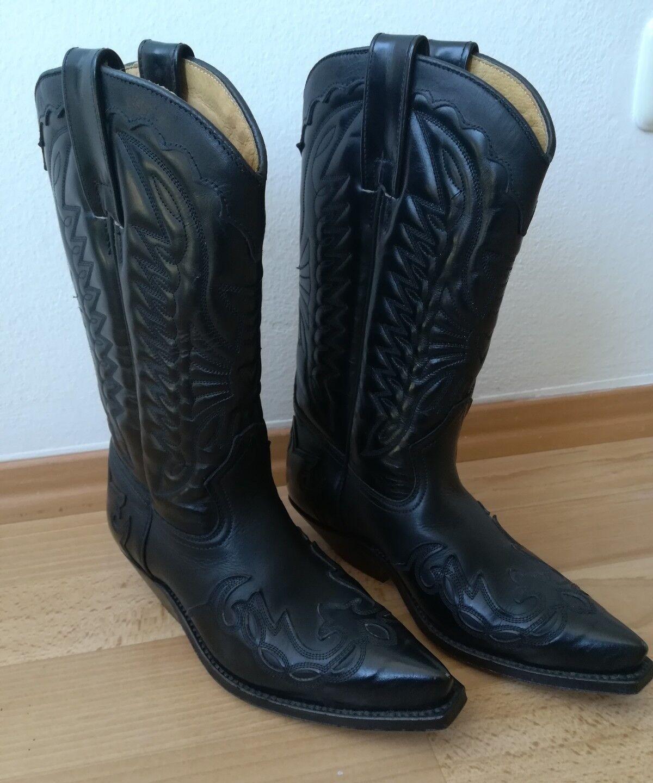 PrimeStiefel Cowboy Western Stiefel Biker Stiefel Neuwertig Damen Mädchen Gr. 36 37