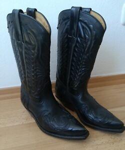 Leder Gr.36 Biker Cowboystiefel Stiefel Damen LOBLAN schwarz