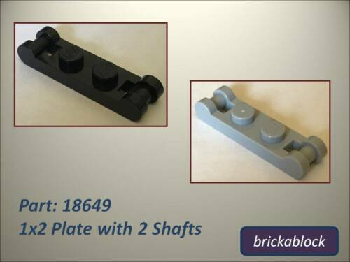 Choose 2,4,6,8 or 10 NEW Lego Part 18649 1x2 Plate 2 Shafts