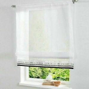Details zu Raffrollo Weiß Raffgardine Gardinen Fertiggardinen Wohnzimmer  Modern Transparent