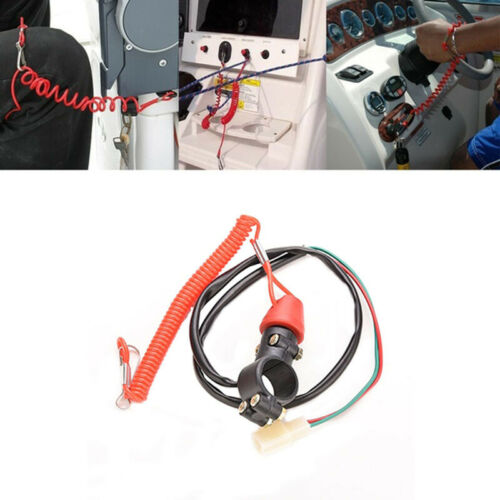 Emergency Kill Stop Outboard Engine Switch Push Button Motorcycle Dirt Bike KK